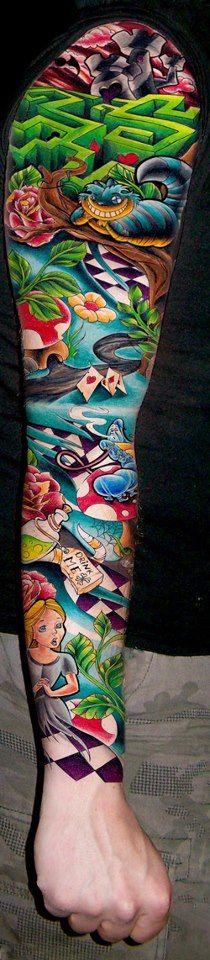 Alice in Wonderland sleeve