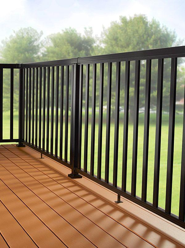 Black Metal Balcony Railing Idea In Modern Minimalist: 20 Best DIY Railing Styles Images On Pinterest