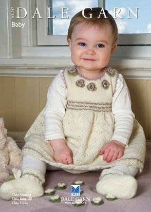 Myke strikkeplagg til baby i Babyull, Alpakka og Lerke.