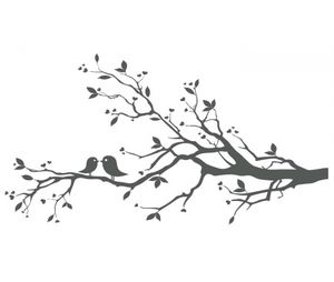 tree with birds clipart free   Love Birds On Branch X image - vector clip art online, royalty free ...