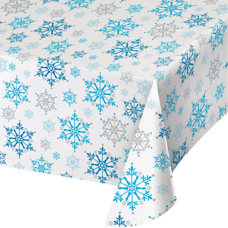 SNOWFLAKES TABLECOVER Frozen Winter Birthday Party Supplies Buffet Tableware