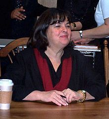 Ina Garten b. 1948 ~ Cookbook Author  I have every one of her books and not ONE recipe has failed me.  I want to cook beside her in her gorgeous kitchen