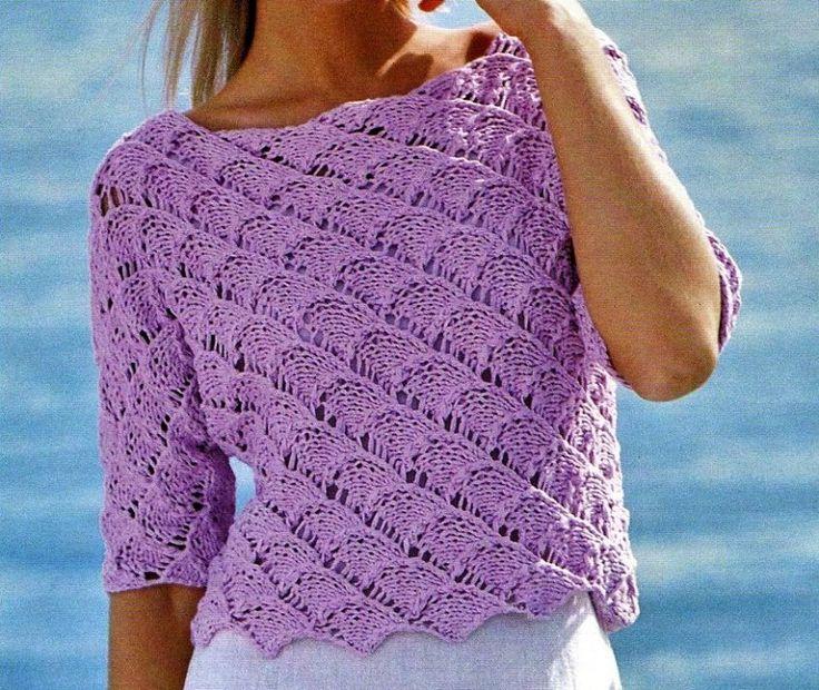 Un pullover rosa lavorato a punto traforato, darà a questo lavoro a maglia l'effetto ajour che vogliamo ottenere: scoprite gli schemi gratis e le istruzioni per confezionarne uno nel migliore dei modi.
