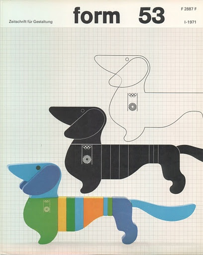 {form 53} Otl Aicher - cool doxie graphic art#Repin By:Pinterest++ for iPad#