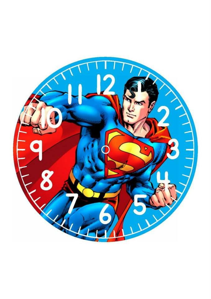 superman .clock face More