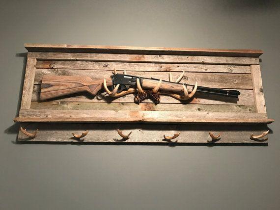 Reclaimed Wood Rustic Gun Rack Gun Rack by NorthAmericanRustics