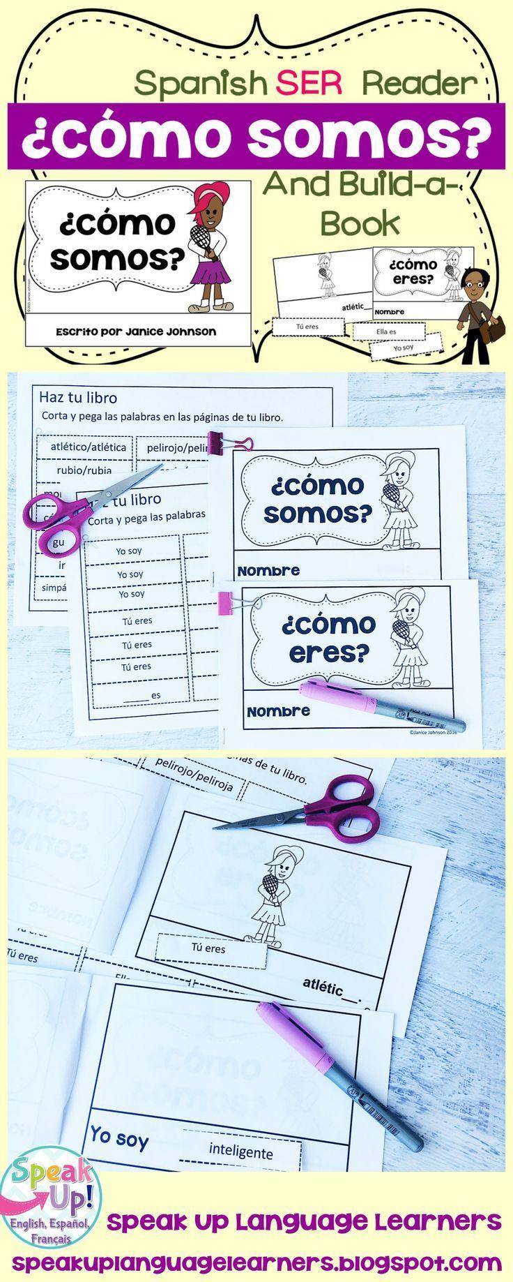 Como Somos Spanish Verb Ser Adjective Reader Build A Book Verb Ser Spanish Verb Ser Spanish Verbs [ 1837 x 736 Pixel ]