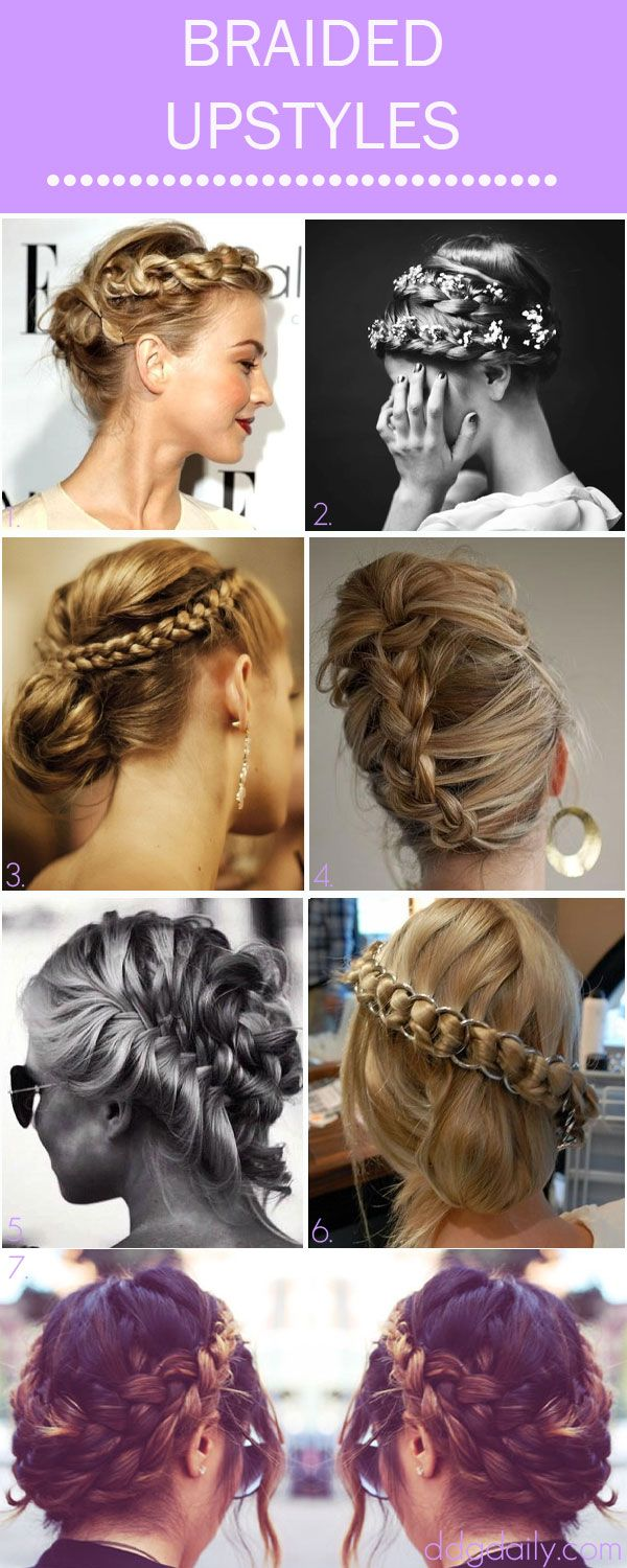 BRAIDED UPSTYLES: A DDG MOODBOARD FULL OF TOPSY TURVY TRESS TWISTS
