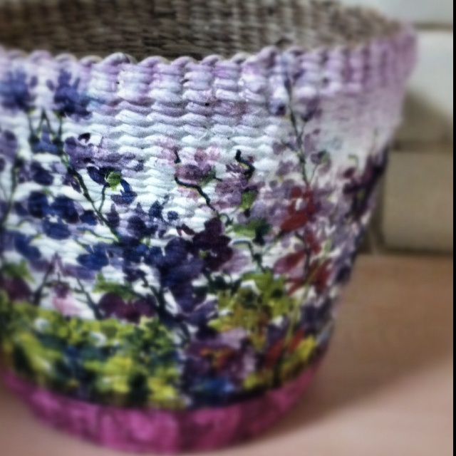 A Decoupage Basket