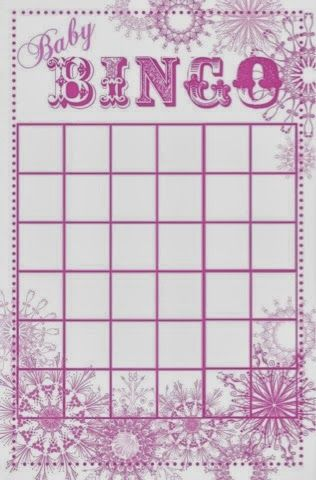 Snowflakes Baby Shower Bingo Playing Card Baby For Shower Game Idea! Pink,  Lavender And