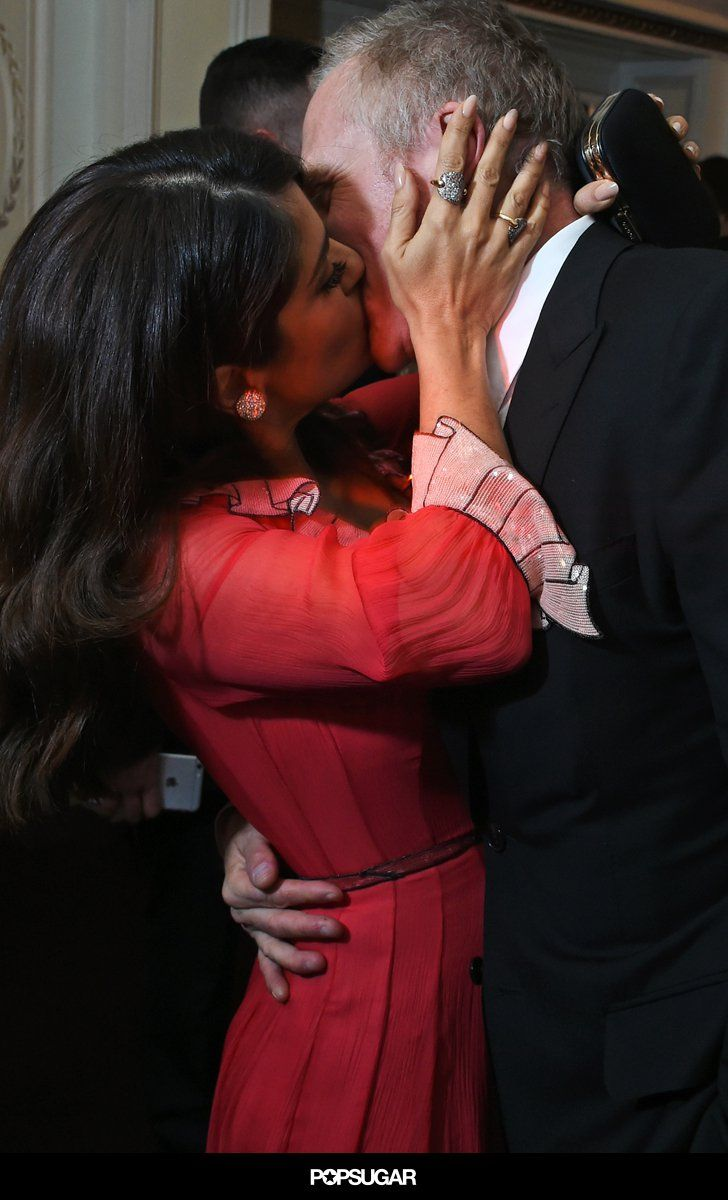 This Salma Hayek Makeout Session With Her Husband Is Too Hot to Handle