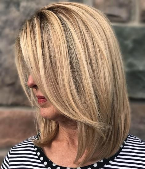 Long Blonde Bob Hairstyle    Get more style tips at 40plusstyle.com