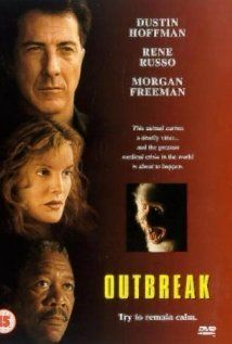 #45 on my list is Outbreak. This is a very good film! It has an all star cast which includes Donald Sutherland, Dustin Hoffman, Rene Russo, Morgan Freeman, J.T. Walsh, Cuba Gooding Jr. Patrick Dempsey, and Kevin Spacey