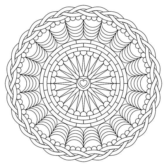 Mandala Coloring Page Instant Download Ready By TheJoyOfColoring