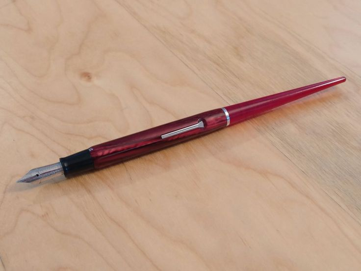 Esterbrook 1940s Red & Clear Red Taper 9668 Lever-Fill Vintage Desk Fountain Pen #Esterbrook