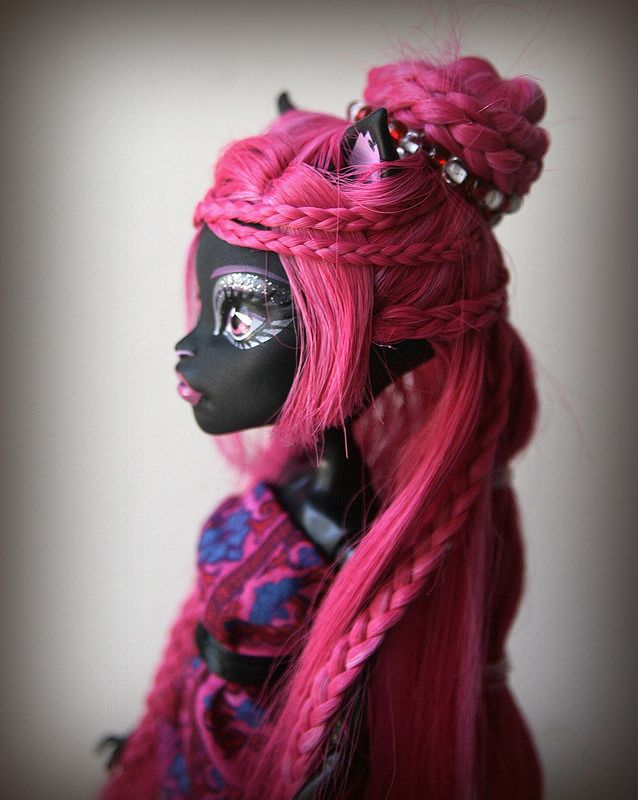Monster high dress up toralei hairstyle