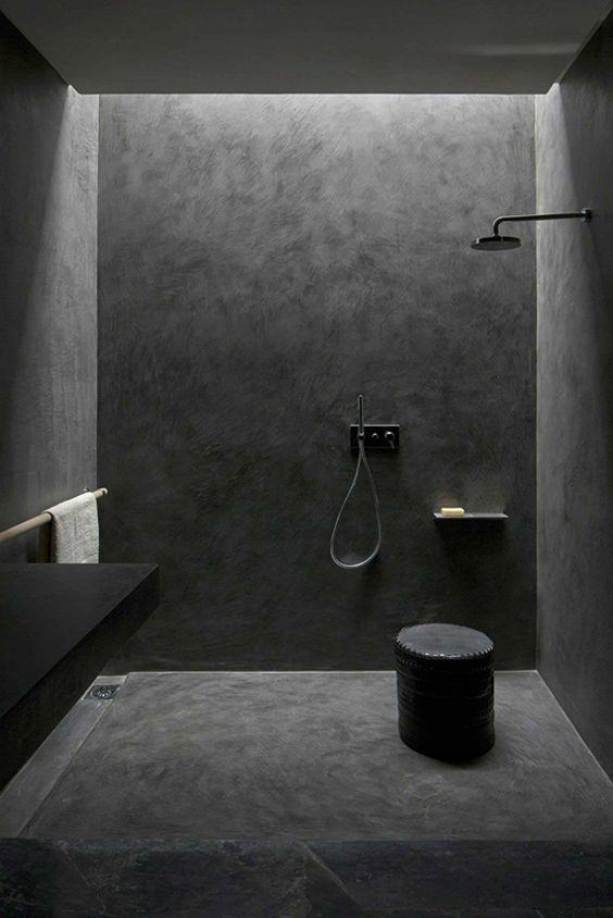 "After travelling to Marrakesh, Davison says she is ""a bit obsessed with Moroccan Tadelakt in bathrooms. This is a seamless waterproof render you can use in showers and even form baths from. The result is soft and luminous, a bit like the inside of a seashell. I find it creates a much more relaxed feel than tiled walls with grids of grout."""