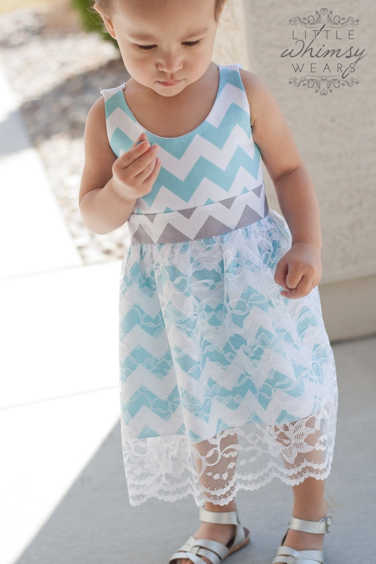 Chevron Clothing Ideas - Sunday Best - A Beautiful Chevron Print Dress with a Lace Overlay - Sizes 12/18m, 2t/3t, 4t/5t, 6/7. $49.00, via Etsy.