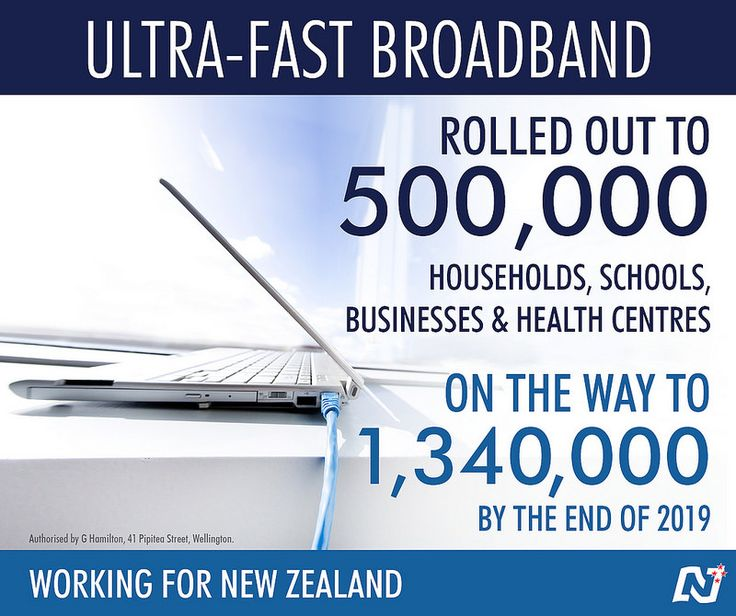 Our UFB network is continuing to rollout ahead of schedule and is on track to connect 1,340,000 households, schools, businesses and health centres by the end of 2019. http://ntnl.org.nz/V6DHdn #Working4NZ