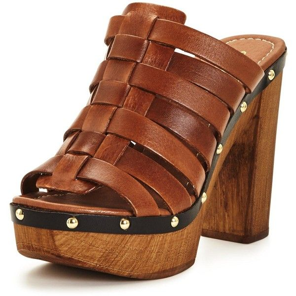 Carvela Kandy&Nbsp;Heeled Clogs&Nbsp; ($66) ❤ liked on Polyvore featuring shoes, clogs, platform clogs, mule shoes, leather clogs, lined clogs and leather mules
