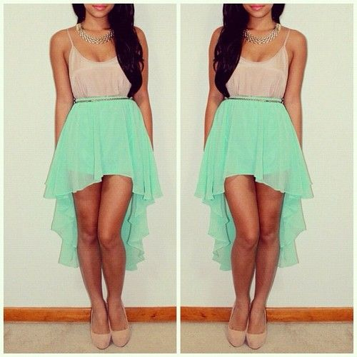 Love this!: Mintgreen, Summer Dresses, High Low Dresses, Mint Green, High Low Skirts, Highlow, Cute Outfits, Summer Outfits, Green Dresses