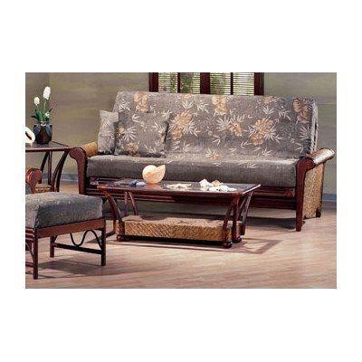 rattan floral rosebud futon living room set size full by night day furniture - Futon Living Room Set