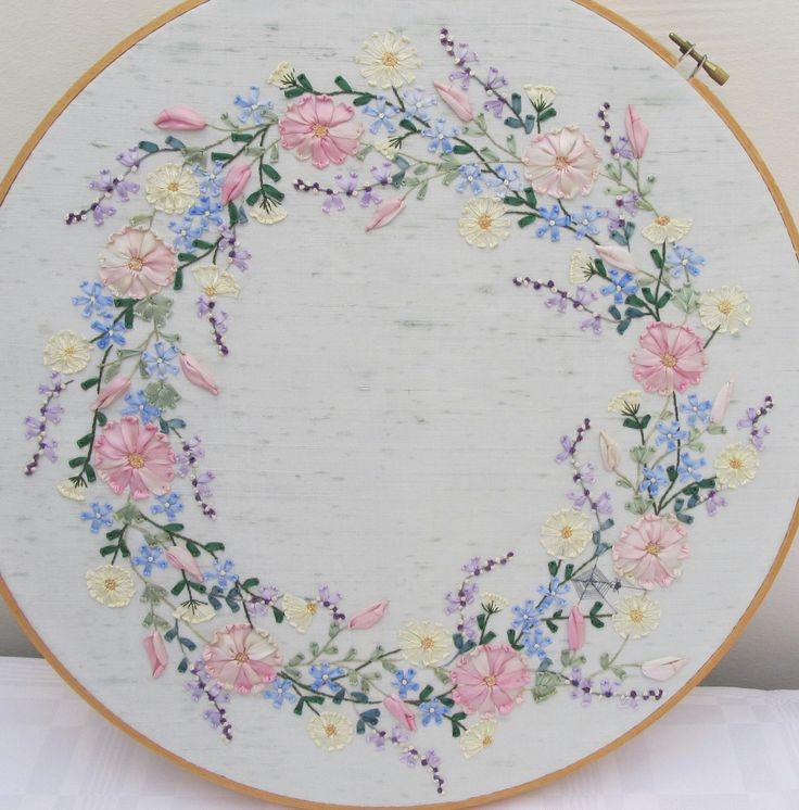 Ribbon work embroidery stitch makaroka