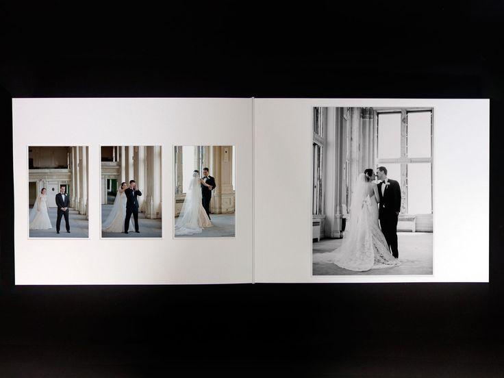 Queensberry Wedding Album  |  Mana & Sepehr  |  15x12 Duo with Translucent title page  |  Krista Fox Photography, Toronto, Canada  |  #weddingalbum #firstlook
