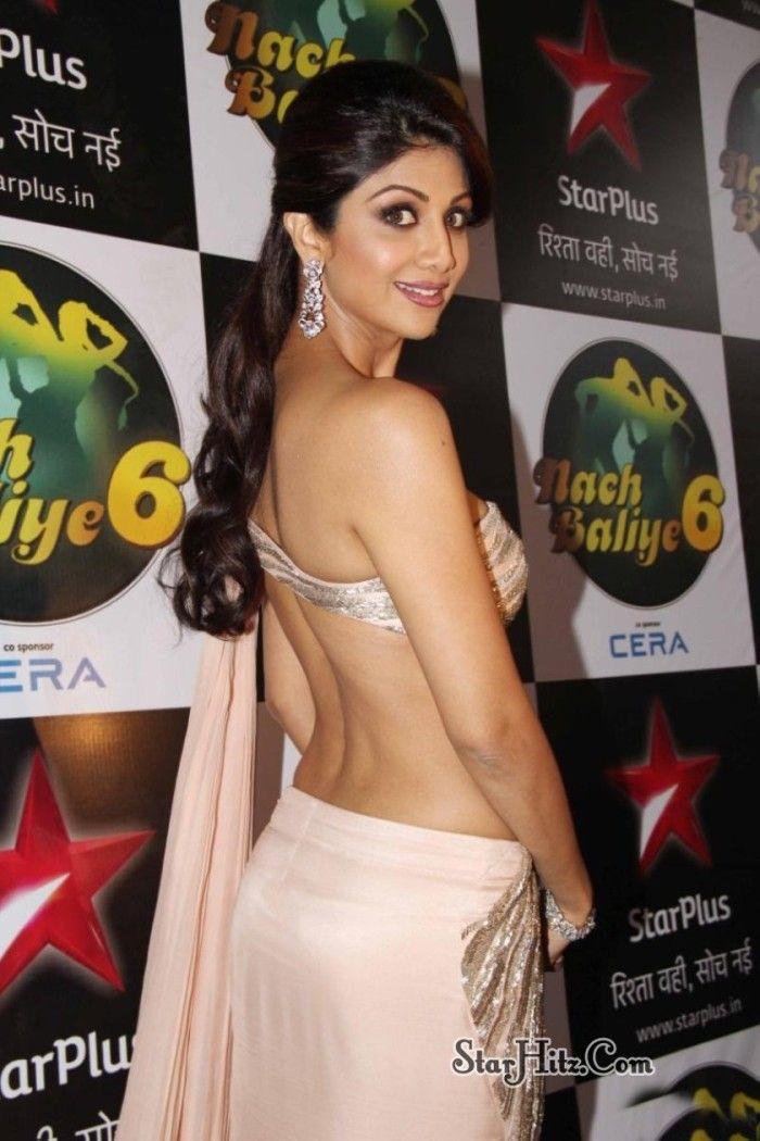 Actress Backless Dress Stills -149- Backless Saree - Back Show