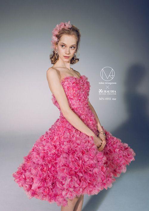 お花畑みたい!ピンクのミニ スカート ウェディングドレス・カラードレス・花嫁衣装のまとめ一覧♡