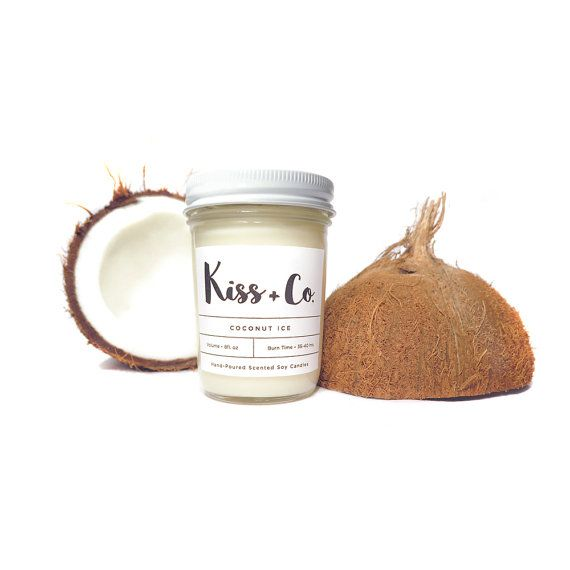 Scented Soy Candle Coconut 8oz
