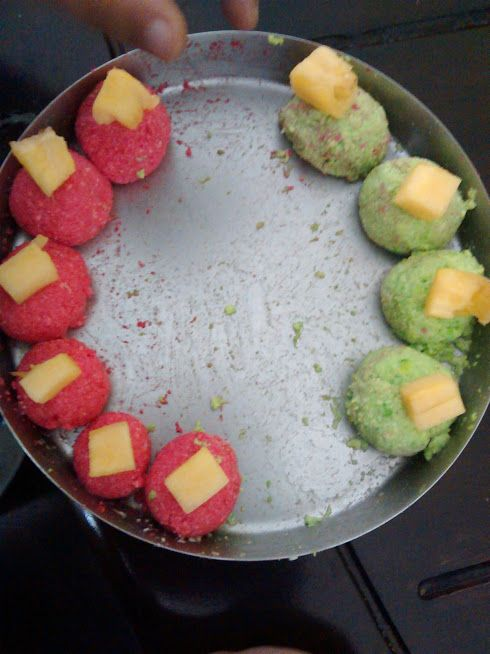 Colourful Sandesh Pineapple - Mithai