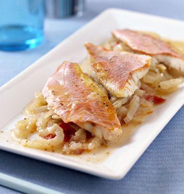 Filets de rougets au fenouil et pastis en papillote - Recettes de cuisine de Provence