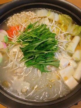 じっくり煮出したスープが自慢の鶏塩白湯鍋 by ようじずふぁくとりー ...