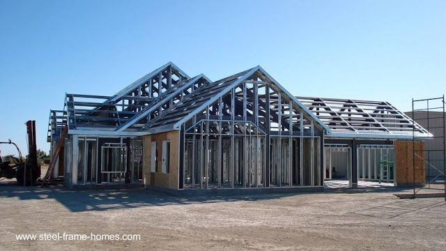 Casa en construcciòn con sistema Steel Framing