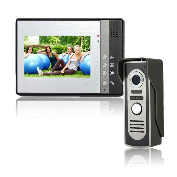 HD Cameras 7 inch Wired Video Door Phone Door Bell System Building intercom equipment Home Security