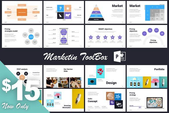Marketing PowerPoint Template by Mr.Visual on @creativemarket