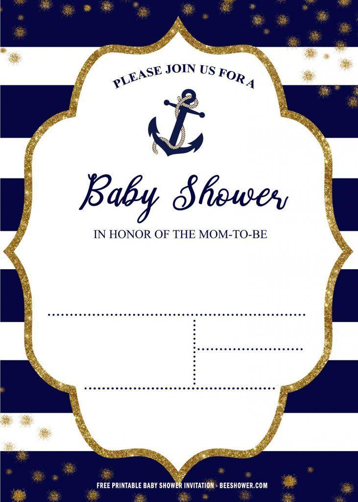 Free Printable Nautical Baby Shower Invitation Templates Nautical Baby Shower Invitations Baby Shower Templates Free Printable Baby Shower Invitations