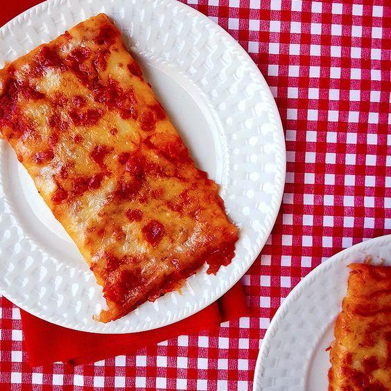 School cafeteria pizza!