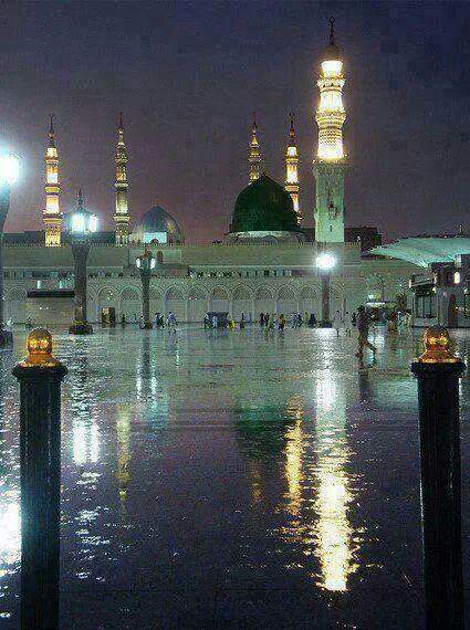 Rain In Madinah  SallAllahu Alaihi Wasallam <3