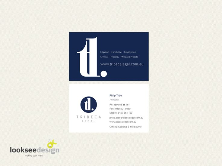 Business card for leagl firm - designed by looksee design