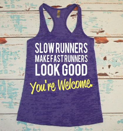 For my fellow slow runners! =P  Marathon burnout tank top. Women's marathon by strongconfidentYOU