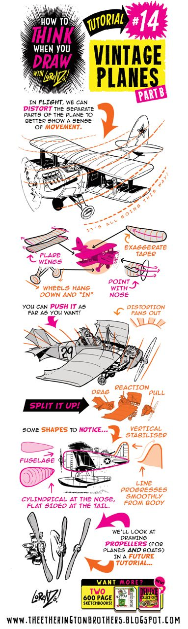 This week's tutorial request came from Gerhard  over on Deviant Art, who asked for some tips on how to draw PLANES.   If you want MORE , cli...