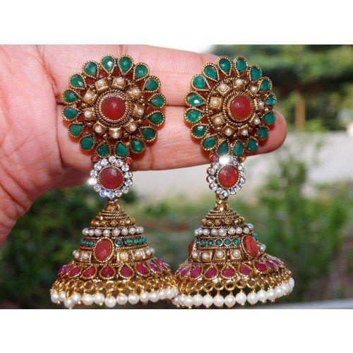 bautiful jhumka earrings