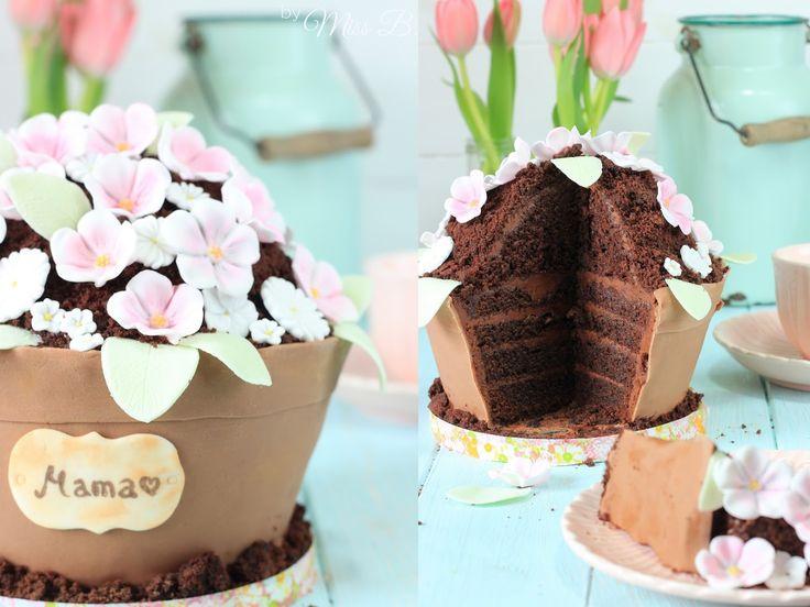 Miss Blueberrymuffin's kitchen: Zum Muttertag: Wunderschöne Blumentopf-Torte mit Cake Company