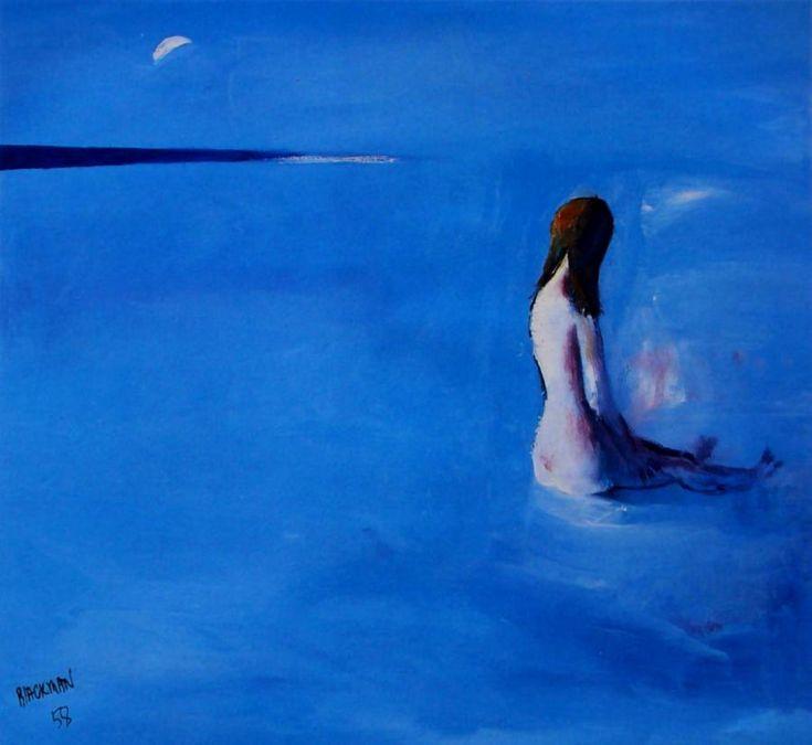 Girl on the Beach Charles Blackman