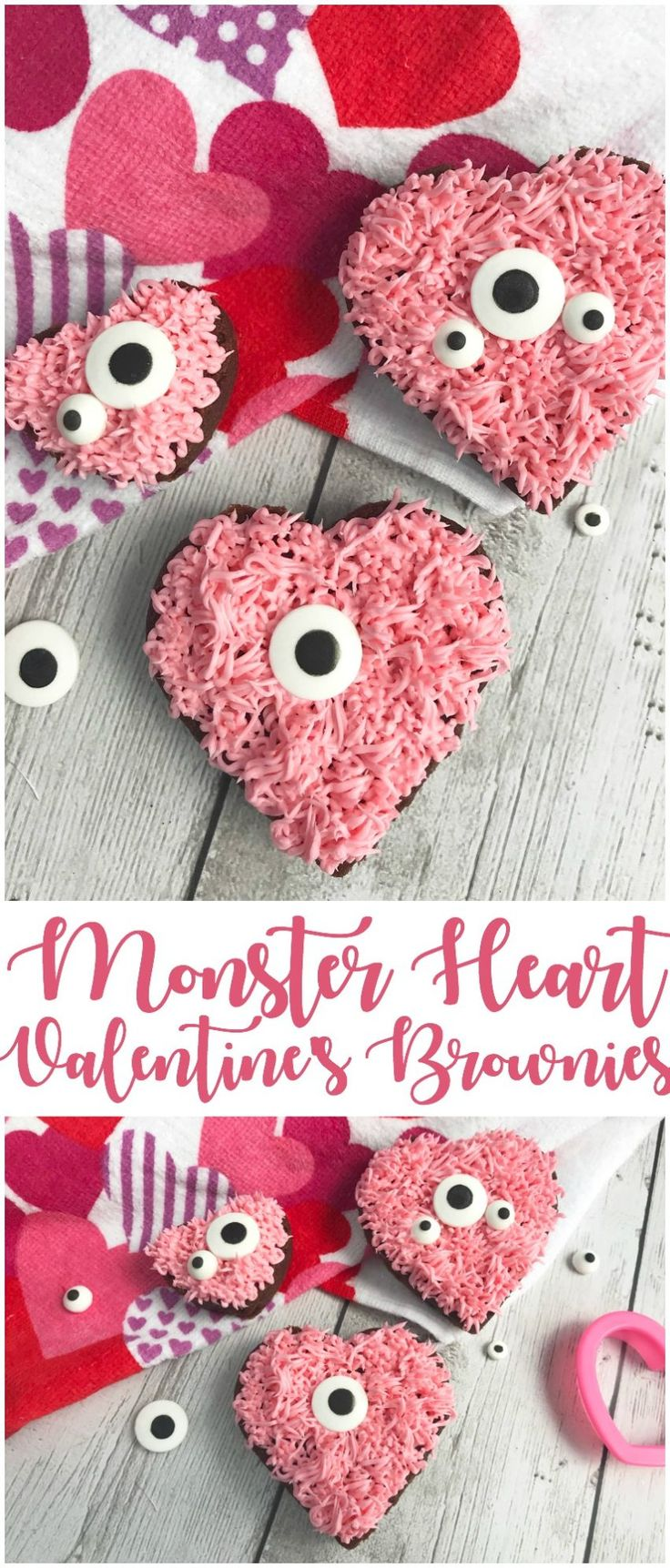 Valentineu0027s monster heart brownies that are so