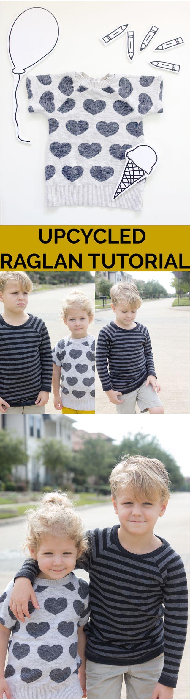 Upcycled Recess Raglan Tutorial