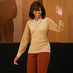 First Lady Michelle Obama in Burberry