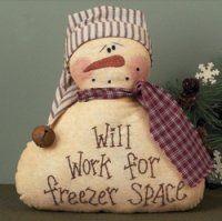Freezer Space Decorative SnowmanDecor Snowman, Freezers Spaces, Crafts Ideas, Primitives Decor, Primitives Country, Primitives Snowmen, Christmas Ideas, Merry Christmas, Spaces Decor